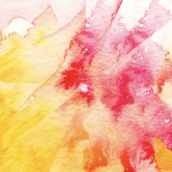 Watercolor abstract mainly yellows and red, painting by JoeKaArt
