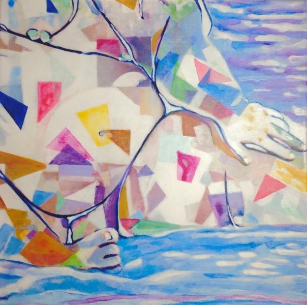"Ample Light - acrylic/canvas - 30x30 cm (12x12"")"