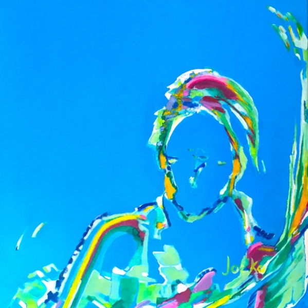Blue Portrait- acrylic/canvas - 60x60 cm (24x24inch)
