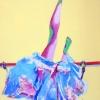 "Horsefeathers - acrylic/canvas - 80x60 cm (32x24"")"